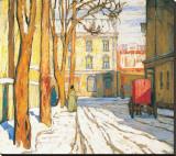 Toronto Street, Winter Morning Sträckt kanvastryck av Lawren S. Harris