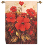 Garden Red Poppies Wall Tapestry