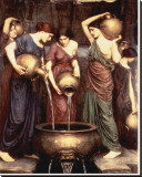 Danaides, 1904 Stretched Canvas Print by John William Waterhouse