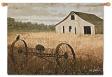 White Barn Wall Tapestry