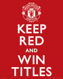 Manchester United-Keep Red Poster