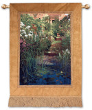Steps to the Lily Pond Wall Tapestry