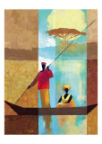 On the River I Poster by Keith Mallett