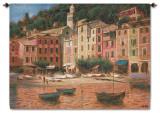Portofino Scene Wall Tapestry