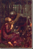 La Belle Dame sans Merci Stretched Canvas Print by John William Waterhouse