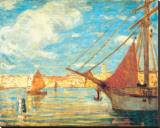 Port de Venise Stretched Canvas Print by James Wilson Morrice