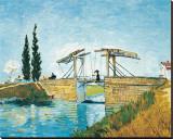 The Langlois Drawbridge Stretched Canvas Print by Vincent van Gogh