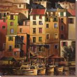 Goldenes Mittelmeer Leinwand von Michael O'Toole