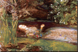 Ophelia Stretched Canvas Print by John Everett Millais
