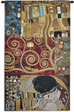 Elements to a Kiss Wall Tapestry by Gustav Klimt