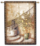 Lemon Stairwell Wall Tapestry