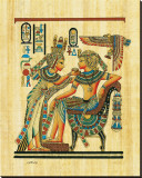 Tutankhamun with His Queen Reproduction transférée sur toile