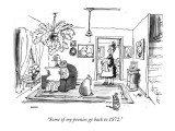 """Some of my peonies go back to 1872."" - New Yorker Cartoon Premium Giclee Print by George Booth"