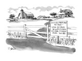 Historic Americana for Sale—Actual hay bales sat on by B. Clinton & A. Gor… - New Yorker Cartoon Premium Giclee Print by Donald Reilly