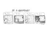 In a Quandary - New Yorker Cartoon Premium Giclee Print by Roz Chast