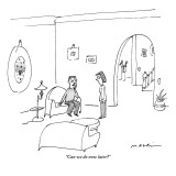 """Can we do now later?"" - New Yorker Cartoon Premium Giclee Print by Michael Maslin"