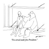 """I've served under five Presidents."" - New Yorker Cartoon Premium Giclee Print by Ed Arno"