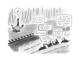 Goose being judged by direcors. - New Yorker Cartoon Premium Giclee Print by Danny Shanahan