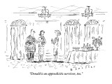 """Donald is an appendicitis survivor, too."" - New Yorker Cartoon Premium Giclee Print by Barbara Smaller"