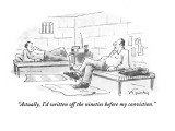 """Actually, I'd written off the nineties before my conviction."" - New Yorker Cartoon Premium Giclee Print by Mike Twohy"