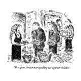 """I've spent the summer speaking out against violence."" - New Yorker Cartoon Premium Giclee Print by Edward Koren"