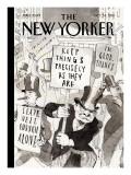 Fighting Back - The New Yorker Cover, October 24, 2011 Regular Giclee Print by Barry Blitt