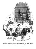 """""""Sweetie, show the Hazlitts the watercolors you made in jail."""" - New Yorker Cartoon Premium Giclee Print by Robert Weber"""