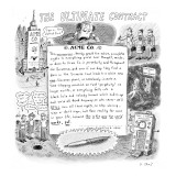 The Ultimate Contract - New Yorker Cartoon Premium Giclee Print by Roz Chast