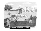 Lawyer-Country Safari: 'Just stay in the car, keep the doors locked, and t… - New Yorker Cartoon Premium Giclee Print by Danny Shanahan