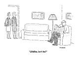 &quot;Lifelike, isn&#39;t he?&quot; - New Yorker Cartoon Premium Giclee Print by Robert Mankoff