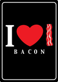 I Heart Bacon Cartel de chapa