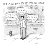 "A man on a sidewalk says, ""Do you have any idea how many calories a margar…"" - New Yorker Cartoon Premium Giclee Print by Roz Chast"