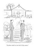 """""""You know what I see over here?  A tiny cannon."""" - New Yorker Cartoon Premium Giclee Print by Richard Cline"""