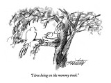 &quot;I love being on the mommy track.&quot; - New Yorker Cartoon Premium Giclee Print by Mischa Richter