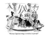 """The most important thing is to believe in yourself."" - New Yorker Cartoon Premium Giclee Print by Edward Frascino"