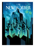 The City - The New Yorker Cover, October 10, 2011 Regular Giclee Print by Eric Drooker