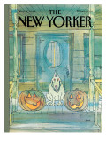 New Yorker Cover - November 04, 1985 Premium Giclee Print by George Booth