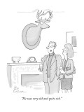 """He was very old and quite sick."" - New Yorker Cartoon Premium Giclee Print by Leo Cullum"