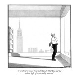"""I've spent so much time with family that I've started to lose sight of wh…"" - New Yorker Cartoon Premium Giclee Print by Matthew Diffee"