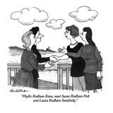 """Phyllis Rodham Kane, meet Susan Rodham Peck and Laura Rodham Smolinksy."" - New Yorker Cartoon Premium Giclee Print by J.B. Handelsman"