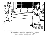 """Of course I care about how you imagined I thought you perceived I wanted …"" - New Yorker Cartoon Premium Giclee Print by Bruce Eric Kaplan"