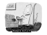 Budgie Deficit - New Yorker Cartoon Premium Giclee Print by Danny Shanahan