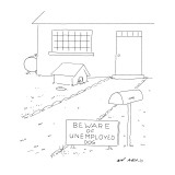 Beware of Unemployed Dog - New Yorker Cartoon Premium Giclee Print by Ed Arno
