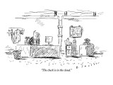 """""""The check is in the cloud."""" - New Yorker Cartoon Premium Giclee Print by Barbara Smaller"""