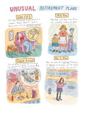 Unusual Retirement Plans - New Yorker Cartoon Premium Giclee Print by Roz Chast