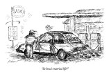 """So how's married life?"" - New Yorker Cartoon Premium Giclee Print by Edward Koren"