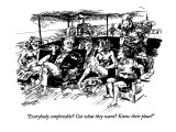 """""""Everybody comfortable? Got what they want? Know their place?"""" - New Yorker Cartoon Premium Giclee Print by William Hamilton"""
