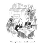 """""""Your laughter, Kevin, is decidedly medicinal."""" - New Yorker Cartoon Premium Giclee Print by Edward Frascino"""