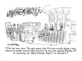 """""""This late news item.  The ugly rumors that I've been secretly dating a ne…"""" - New Yorker Cartoon Premium Giclee Print by Eric Teitelbaum"""