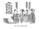 """Like it?  It's a Morley Safer."" - New Yorker Cartoon Premium Giclee Print by James Stevenson"